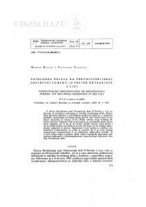 Patološka pojava na prethistorijskoj čovječjoj lubanji iz pećine Bezdanjače u Lici / M. Malez i V. Nikolić