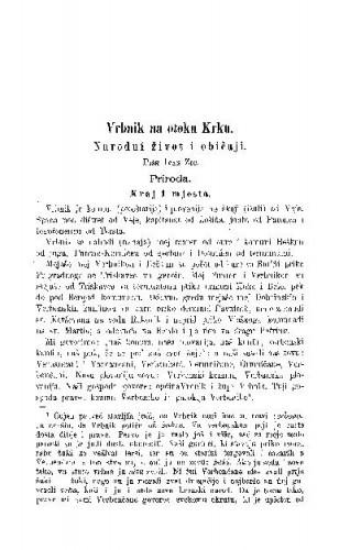 Vrbnik na otoku Krku : narodni život i običaji / I. Žic