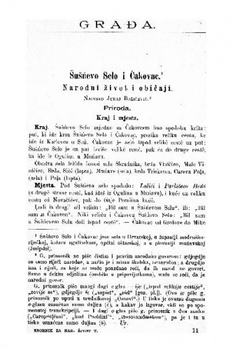 Šušńevo Selo i Čakovac : narodni život i običaji / Juraj Božičević