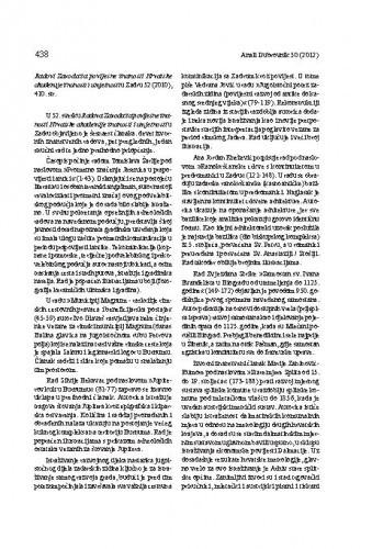 Radovi Zavoda za povijesne znanosti Hrvatske akademije znanosti i umjetnosti u Zadru 52 (2010) : [prikaz] / Miron Palaveršić