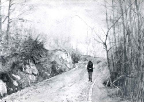 Raškaj, Slava (1877-1906) : Put uz rodnu kuću S. Raškaj na Ozlju