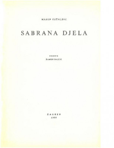 Marini Ghetaldi Opera omnia ; redactor Žarko Dadić