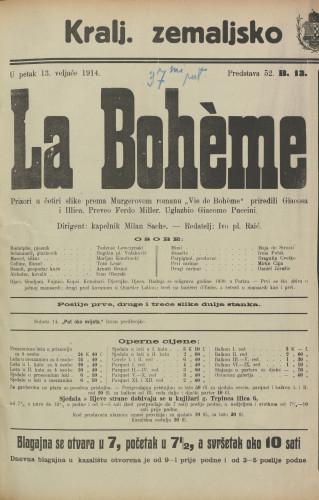 La Bohème Prizori u četiri slike