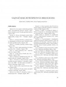 Najznačajnija retrospektivna bibliografija