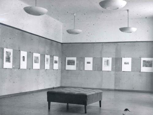Postav samostalne izložbe Slave Raškaj, Zagreb, Kabinet grafike JAZU, 1957.