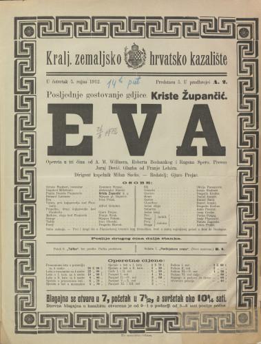 Eva : Opereta u tri čina