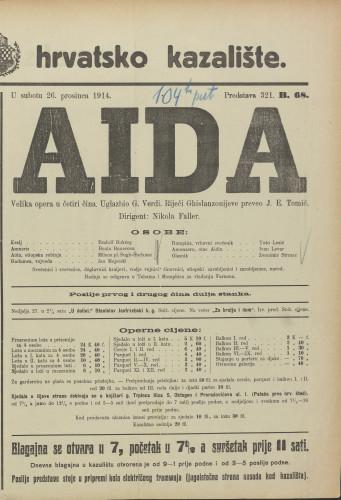 Aida : Velika opera u 4 čina