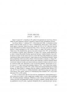 Ivan Erceg (1919.-2017.) : [nekrolog]