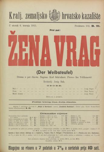 Žena vrag : Drama u pet činova  =  Der Wibsteufel