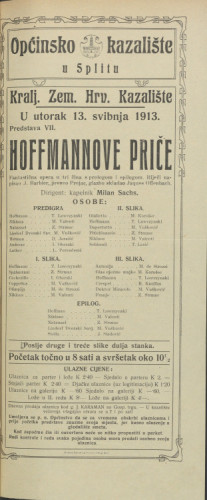 Hoffmannove priče : Fantastična opera u tri čina s prologom i epilogom