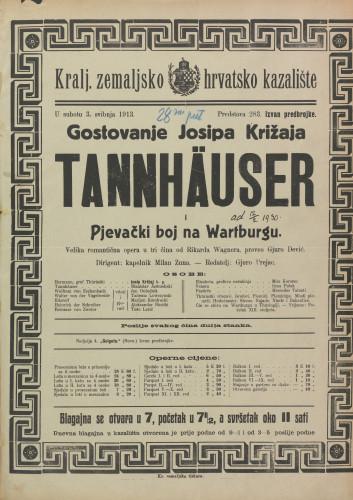 Tannhäuser : Velika romantična opera u tri čina  =  Pjevački boj na Wartburgu