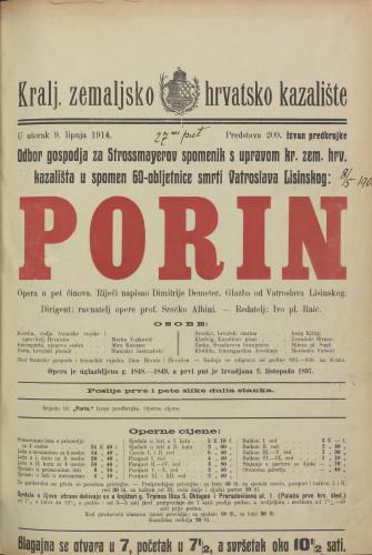 Porin : Opera u pet činova