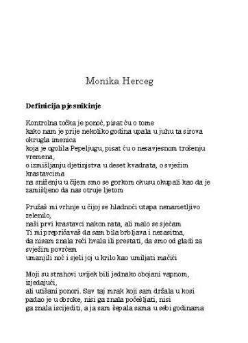 [Pjesme] / Monika Herceg