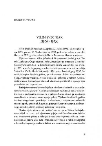 Vilim Svečnjak : (1906.-1993.) / Đuro Vanđura
