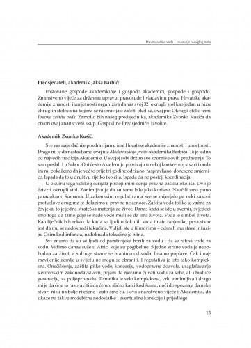 Otvaranje Okruglog stola / Jakša Barbić, Zvonko Kusić