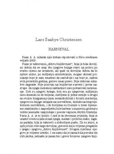 Karneval / Lars Saabye Christensen; s norveškog preveo Munib Delalić