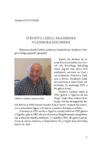 O životu i djelu akademika Vladimira Goldnera / Ivo Čikeš