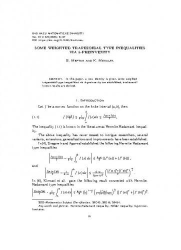 Some weighted trapezoidal type inequalities via h-preinvexity / B. Meftah and K. Mekalfa