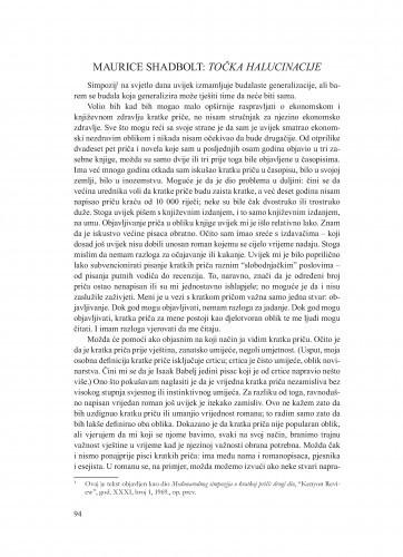 Točka halucinacije / Maurice Shadbolt ;  prevela i bilješke o autoru priredila Ana Batinić