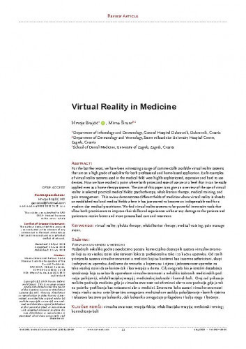 Virtual Reality in Medicine / Hrvoje Brajčić, Mirna Šitum