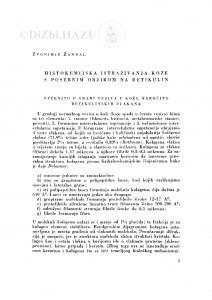 Histokemijska istraživanja kože s posebnim obzirom na retikulin / Z. Zambal