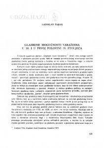 Glazbene mogućnosti Varaždina u 18. i prvoj polovini 19. stoljeća / L. Šaban
