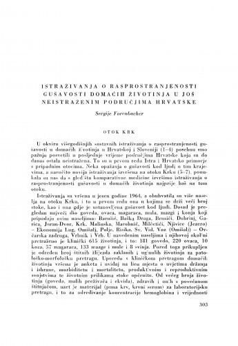 Istraživanja o rasprostranjenosti gušavosti domaćih životinja u još neistraženim područjima Hrvatske / S. Forenbacher