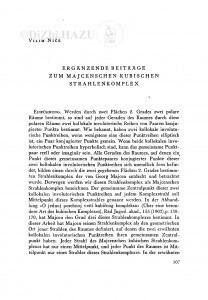 Ergänzende Beiträge zum Majcenschen kubischen Strahlenkomplex : Dopunski prilozi Majcenovom kubičnom kompleksu / V. Niče