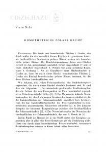 Homothetische polare Räume / V. Niče