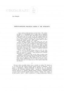 Međunarodni položaj Zadra u XII. stoljeću / Lujo Margetić