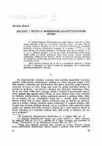 Akcent i iktus u modernom kvantitativnom stihu / M. Kravar