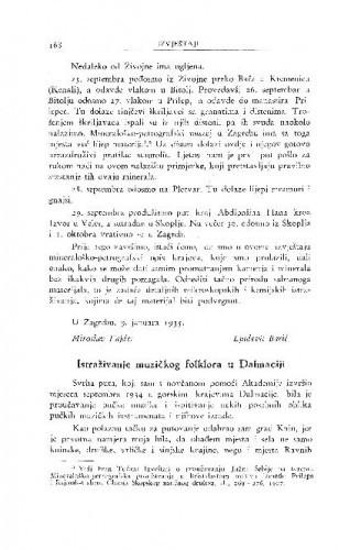 Istraživanje muzičkog folklora u Dalmaciji / B. Širola
