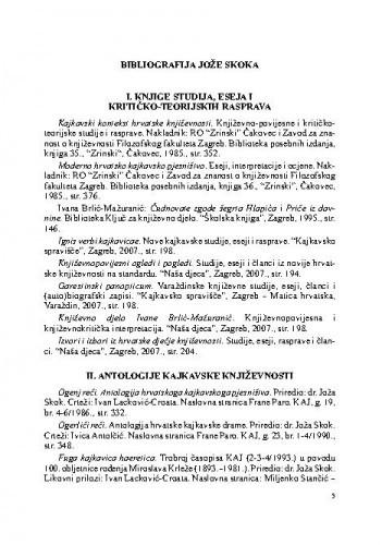 Bibliografija Jože Skoka / Olinka S. Presečki