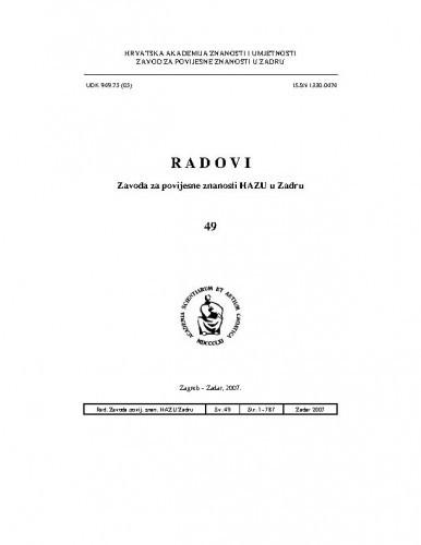 Sv. 49(2007) / glavni i odgovorni urednik Franjo Šanjek