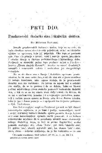 Praslavenski tkalački stan i tkalačka daštica ; M. Gavazzi