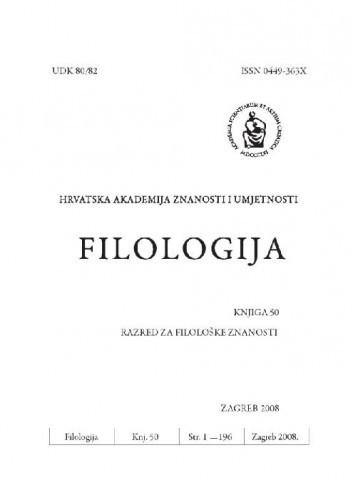 Filologija : časopis Razreda za filološke znanosti Hrvatske akademije znanosti i umjetnosti
