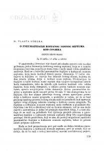 O pneumatizaciji koštanog nosnog septuma kod čovjeka : (sinus septi nasi) / V. Sykora