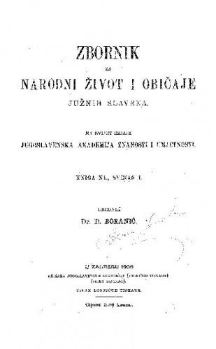 Knj. 11. (1906) / urednik D. Boranić