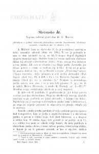 Slovensko le / A. Musić