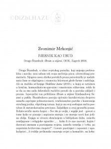 Pjesnik kao usud : Drago Štambuk: Hram u stijeni, DHK, Zagreb 2016. / Zvonimir Mrkonjić