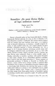 Katančićev