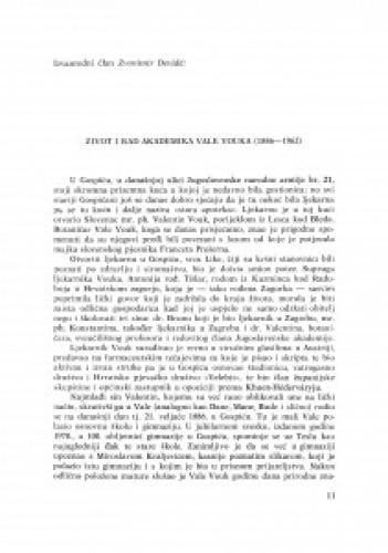 Život i rad akademika Vale Vouka : (1886-1962) / Zvonimir Devidé