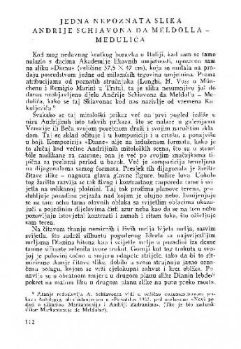 Jedna nepoznata slika Andrije Schiavona da Meldolla - Medulića / Lj. B.