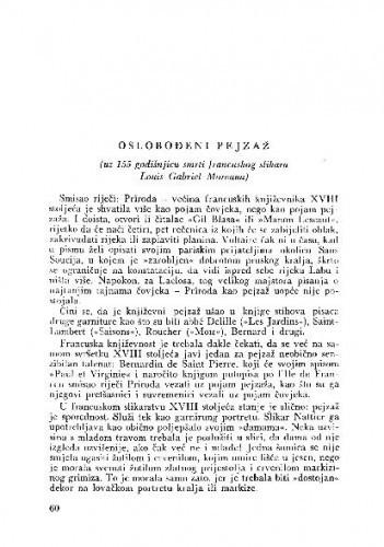 Oslobođeni pejzaž : uz 155 godišnjicu smrti francuskog slikara Louis Gabriel Moreaua / Matko Peić