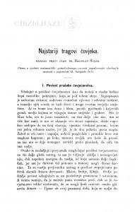 Najstariji tragovi čovjeka / B. Šulek