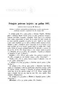 Petnajsto potresno izvješće: za god. 1897. / M. Kišpatić