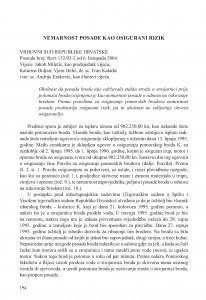 Nemarnost posade kao osigurani rizik (Vrhovni sud Republike Hrvatske, presuda broj: Revt 152/03-2 od 6. 10. 2004.) / Vesna Skorupan Wolff