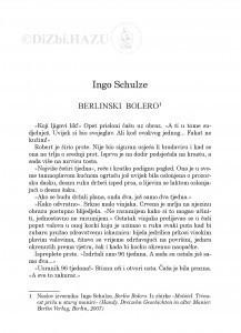 Berlinski bolero / Ingo Schulze ; prevela Ana Nemec
