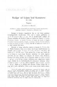 Realgar od Lojana kod Kumanova / Lj. Barić