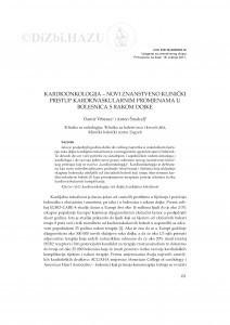 Kardioonkologija - novi znanstveno klinički pristup kardiovaskularnim promjenama u bolesnica s rakom dojke / Damir Vrbanec, Anton Šmalcelj